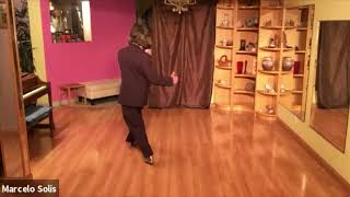 Argentine Tango class- sequence double backward ocho, turn, sacada, corrida de costado