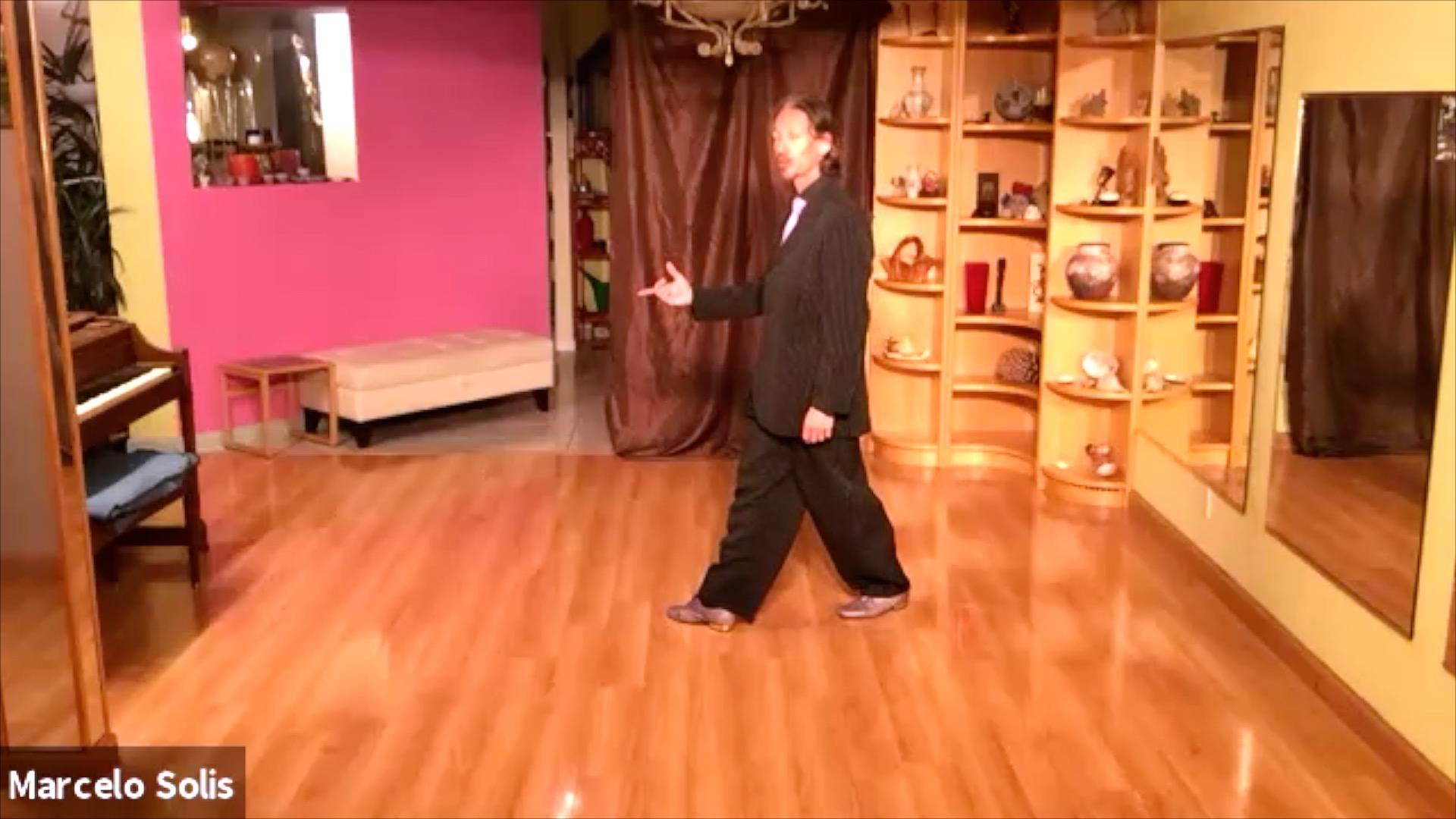 Argentine Tango class: sequence of backward ocho, backward-forward move, forward ocho cortado and forward ocho