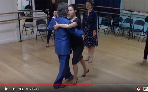 Argentine Tango dance intermediate class with Miranda_ slow walk