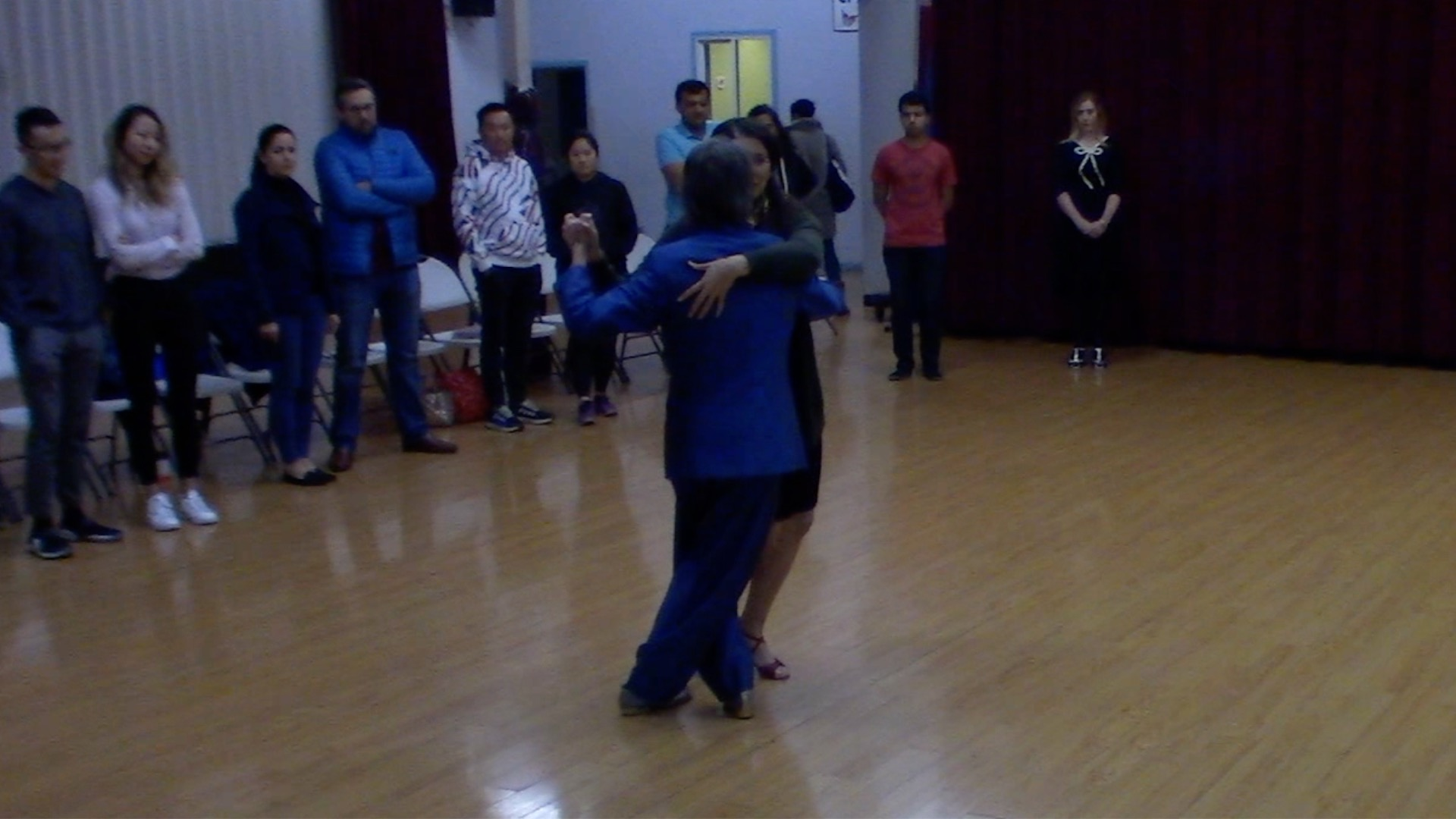 Argentine Tango dancing with Mimi at our beginner class in San Jose