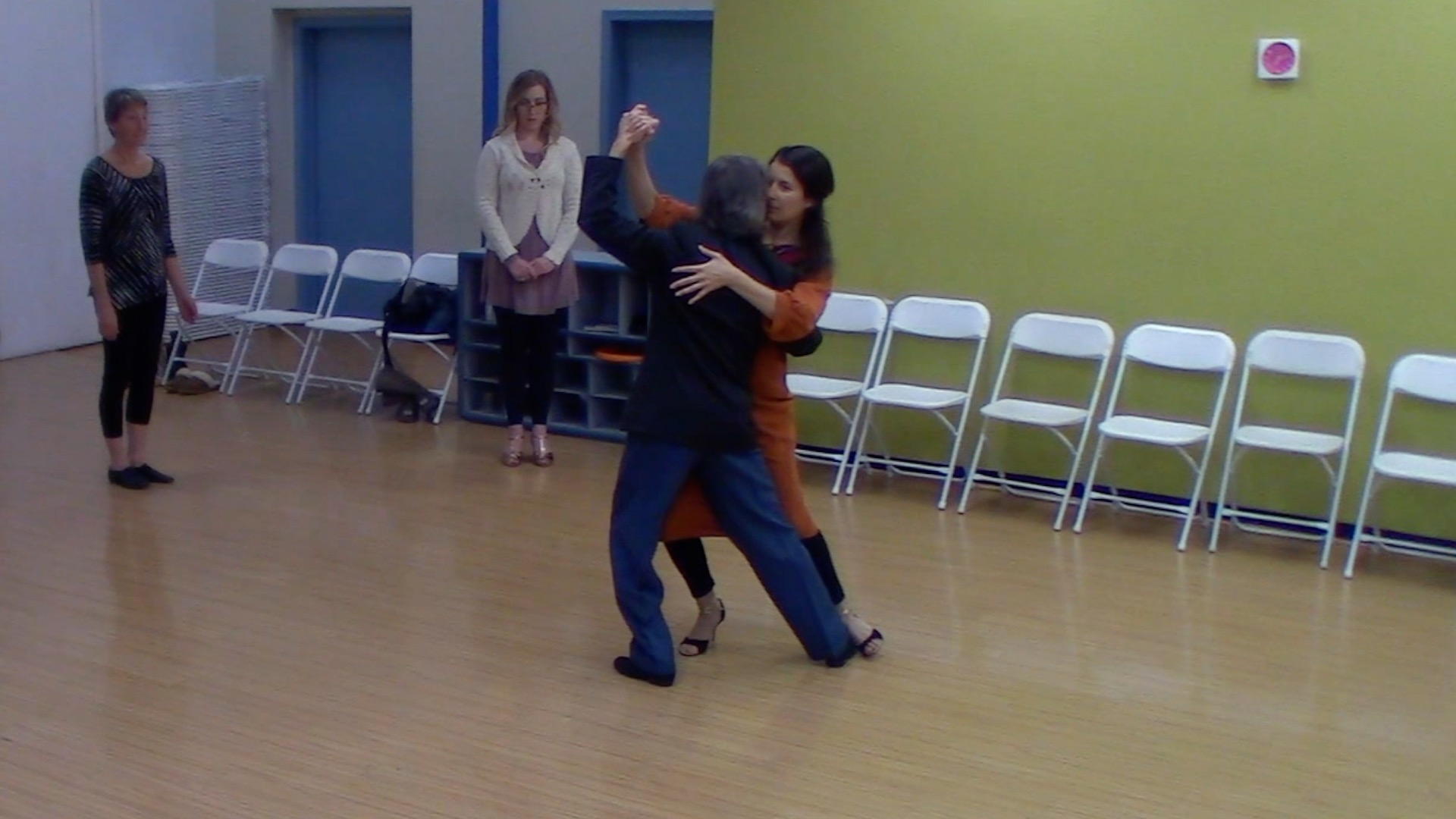 Argentine Tango dancing with Mimi at our beginner class