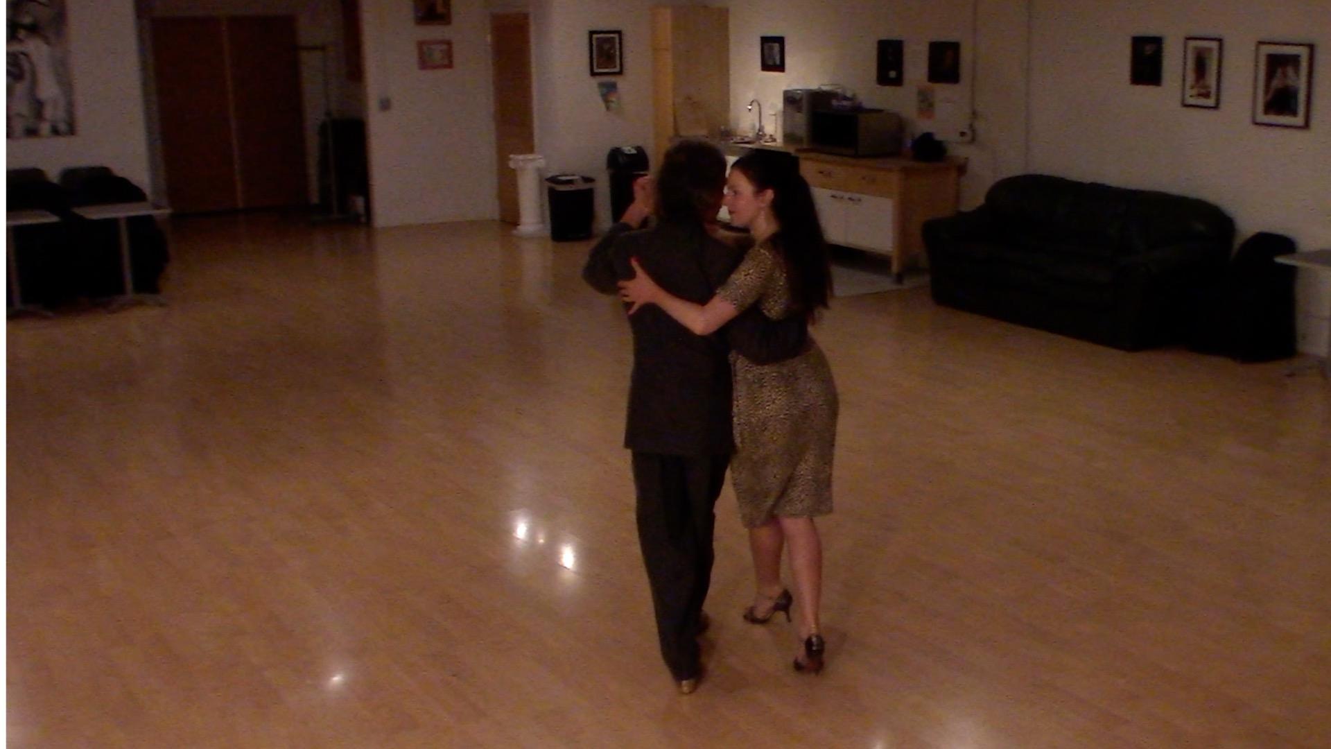 Argentine Tango dancing with Miranda at La Pista.