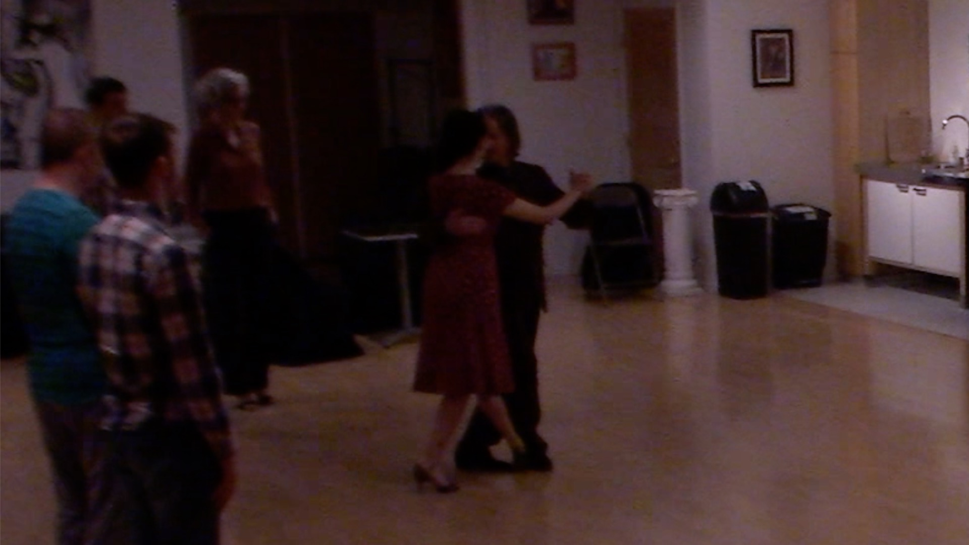 Argentine Tango dancing with Miranda at a beginner class in San Francisco