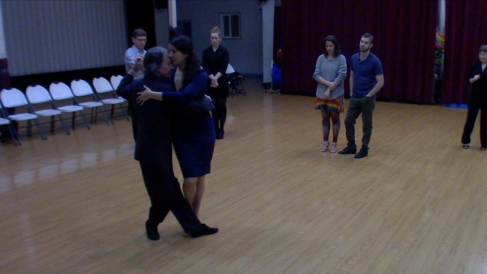 Argentine Tango intermediate class with Mimi: Forward ocho, passing and calecita.