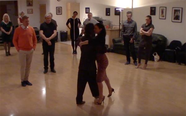 Argentine Tango intermediate class with Miranda_ Crossed system walk circular