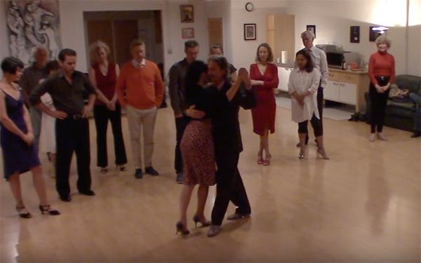 Argentine Tango intermediate class with Miranda_ Crossed system walk invasion and backward ocho