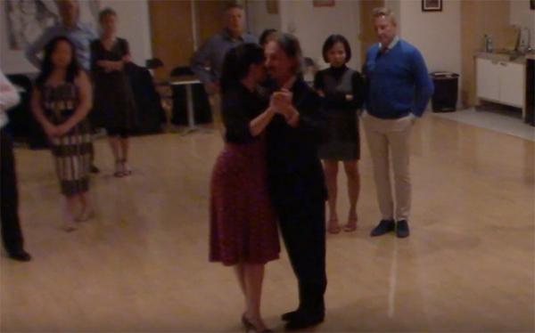 Argentine Tango intermediate class with Miranda_ basic forward and backward ochos