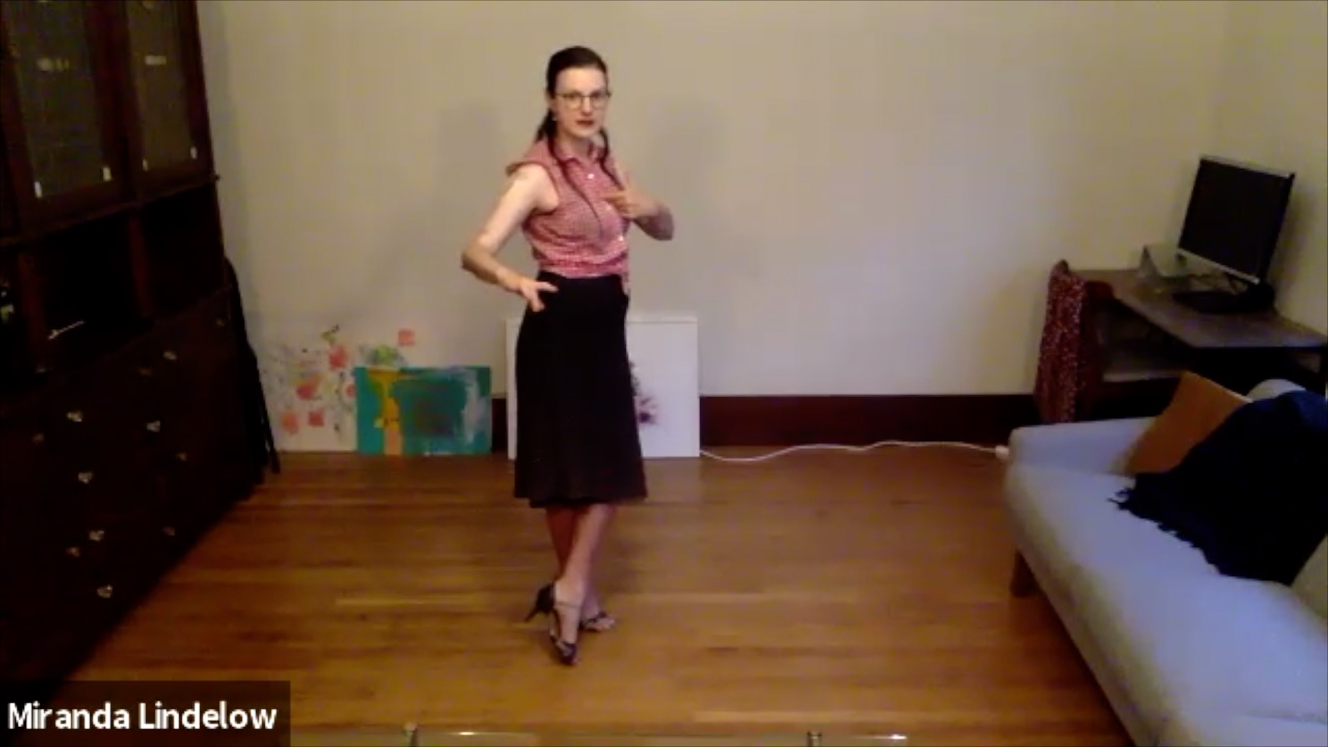 Argentine Tango virtual class with Miranda Lindelow: reverse ocho