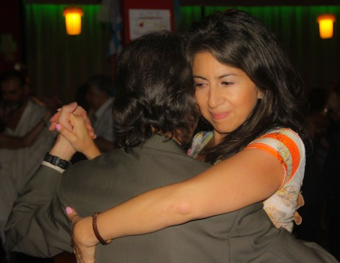 Bailando con Monica Paz. Escuela de Tango de Buenos Aires. Marcelo Solis.