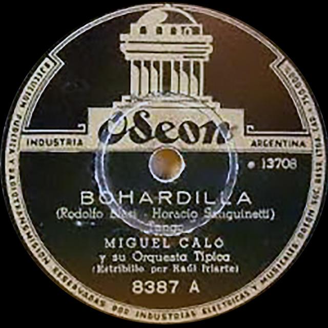 """Bohardilla"", Argentine Tango vinyl disc."