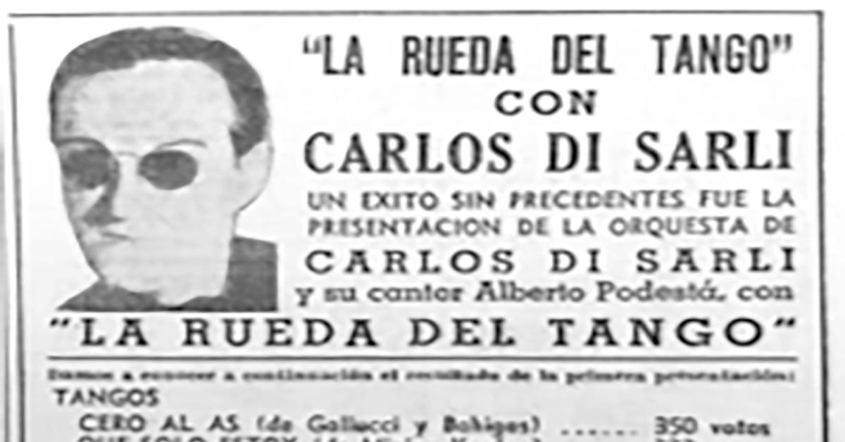 Carlos Di Sarli Argentine Tango poster.