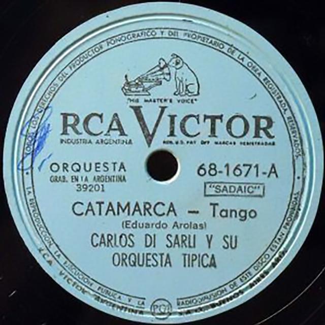 """""""Catamarca"""", vinyl disc Argentine Tango music."""