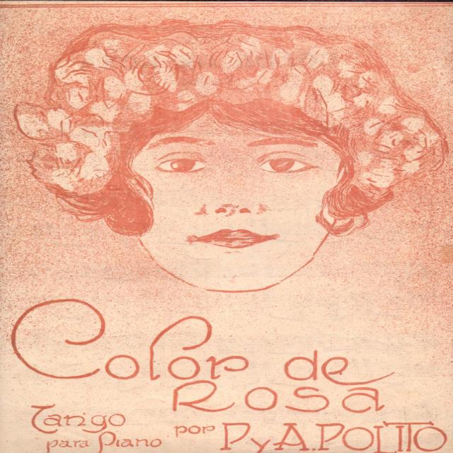 """""""Color de rosa"""", Argentine Tango music sheet cover."""