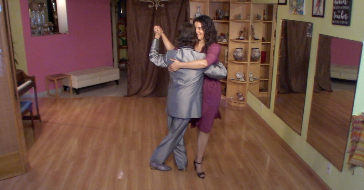Argentine Tango classes by Marcelo Solis. Dancing vals with Mimi.