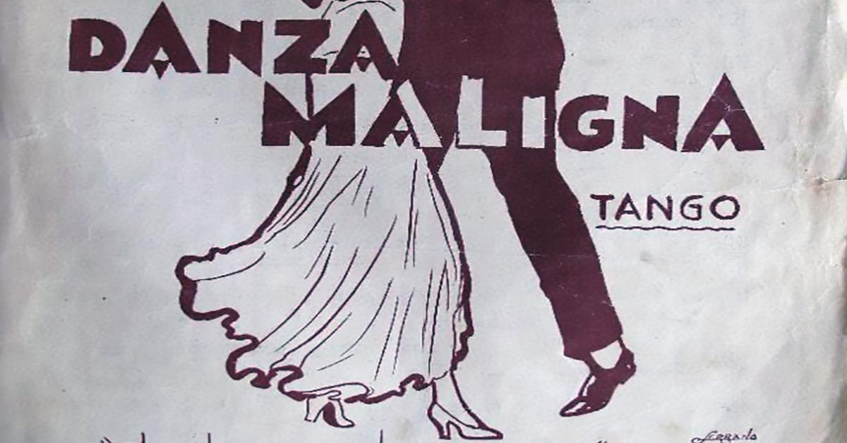 """""""Danza maligna"""", Argentine Tango music sheet cover."""