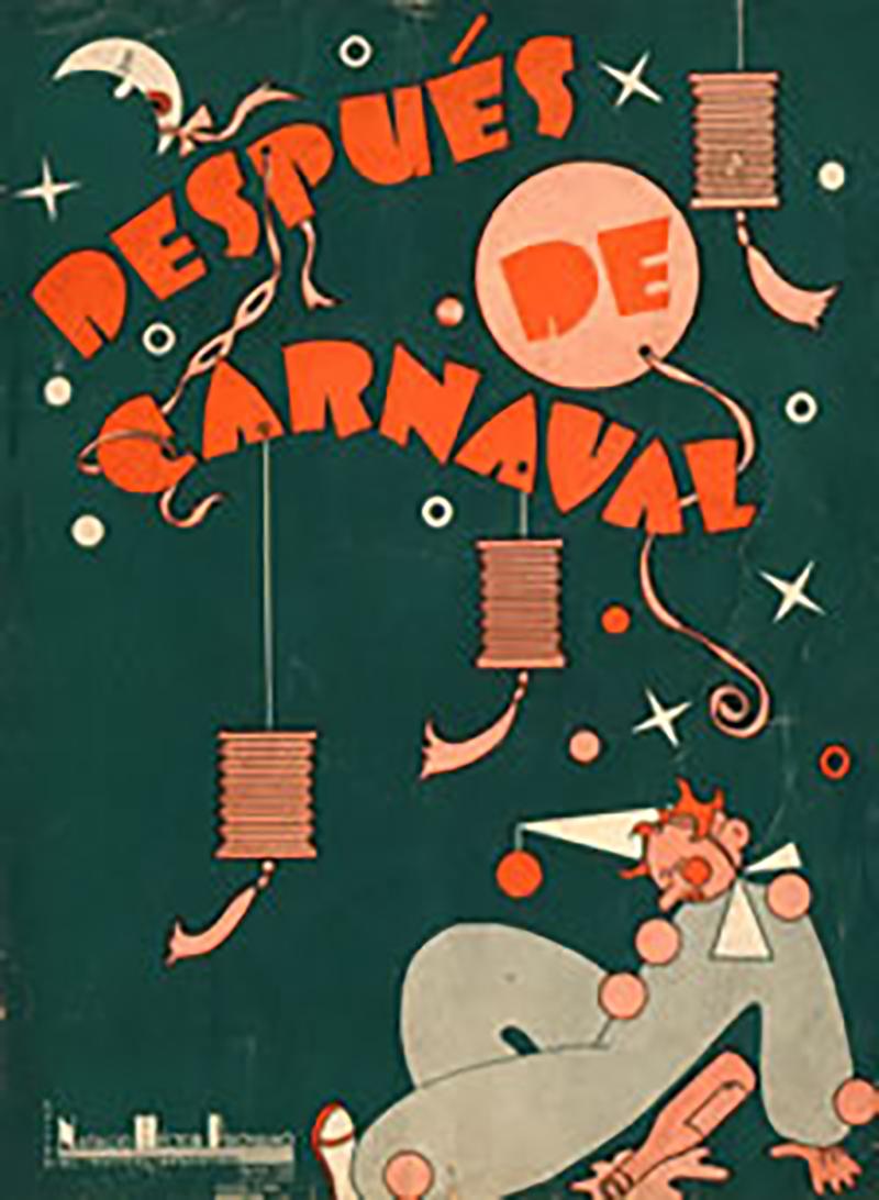 """Después del carnaval"", Argentine Tango music sheet cover."