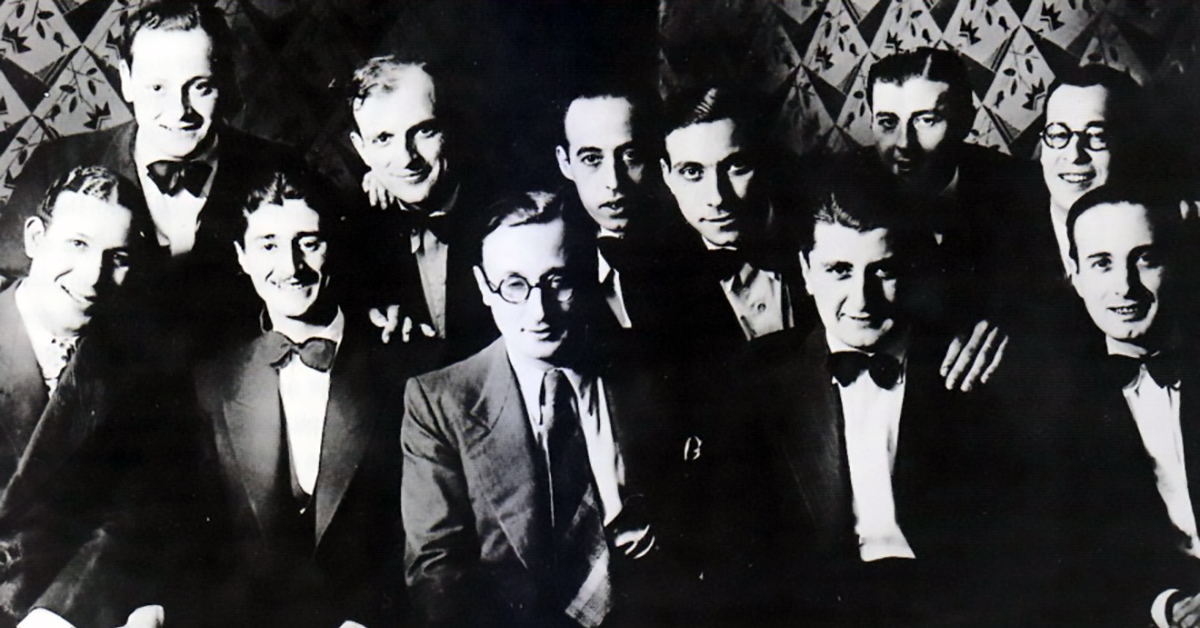 Edgardo Donato, Argentine Tango musician, leader and composer, with his orchestra.