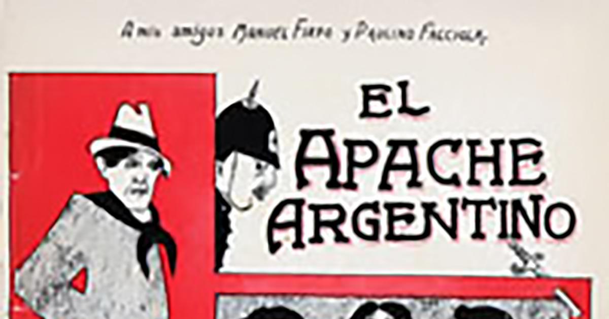 """El apache argentino"", Argentine Tango music sheet cover."