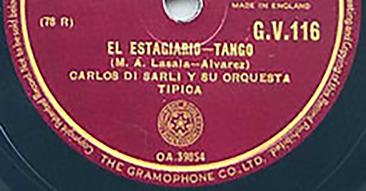 """""""El estagiario"""", Argentine Tango vinyl disc."""