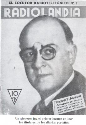 Enrique Maroni, one of the composers of the lyrics of La Cumparsita