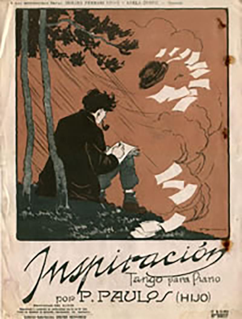 "Music sheet cover of the Tango ""Inspiracion"""