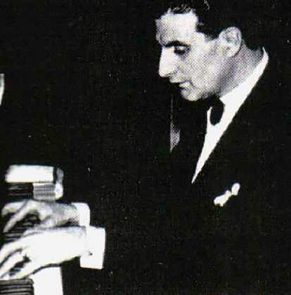 Juan Carlos Cobián, pianist, leader and composer of Argentine Tango.