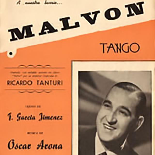 """Malvón"", Argentine Tango music sheet cover."