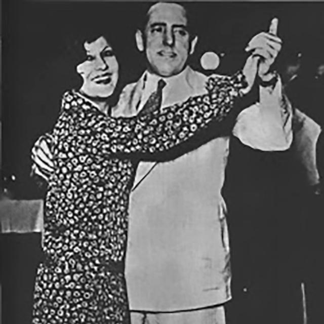 Manuel Romero, Argentine Tango lyricist, dancing.