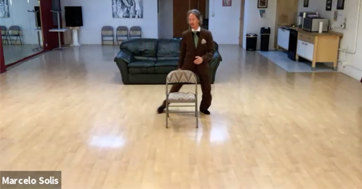Marcelo Solis Argentine Tango class with chair