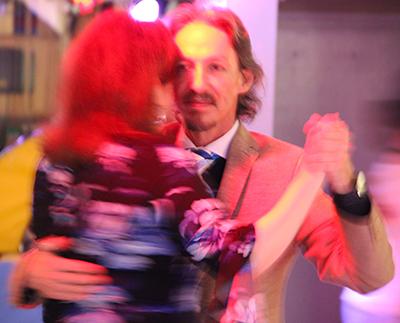 Milongueando with Suzanne at Lafayette milonga. Escuela de Tango de Buenos Aires.