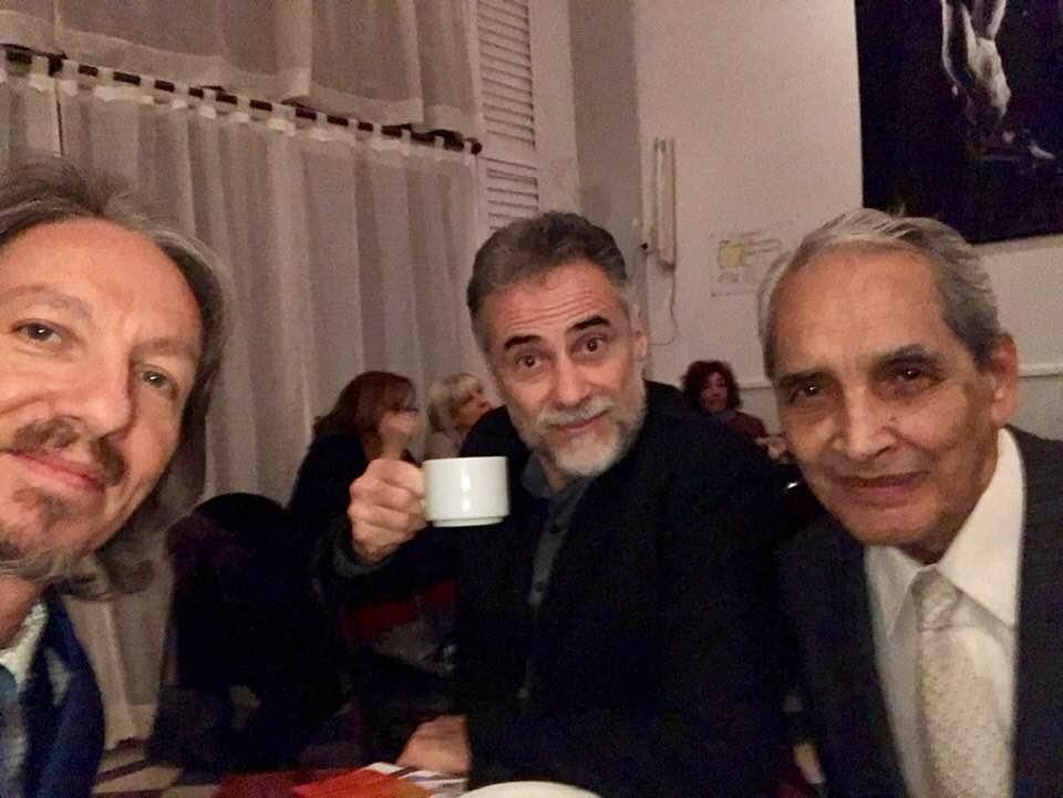 Néstor Pellicciaro, Blas Catrenau and Marcelo Solís at Milonga Parakultural in Buenos Aires.