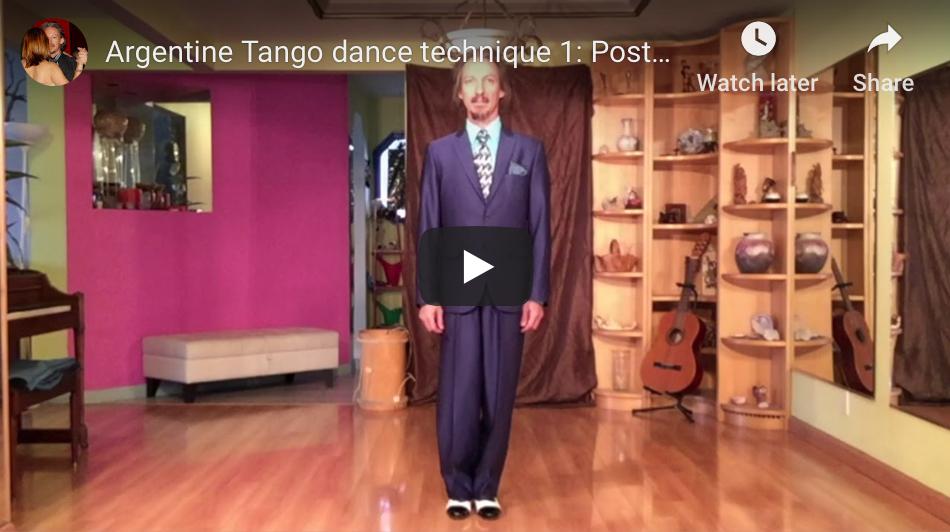 Posture video class. Argentine Tango at Escuela de Tango de Buenos Aires.
