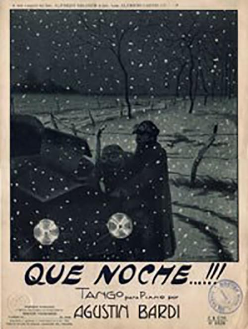 """Qué noche"", composition of Agustín Bardi. Argentine Tango"
