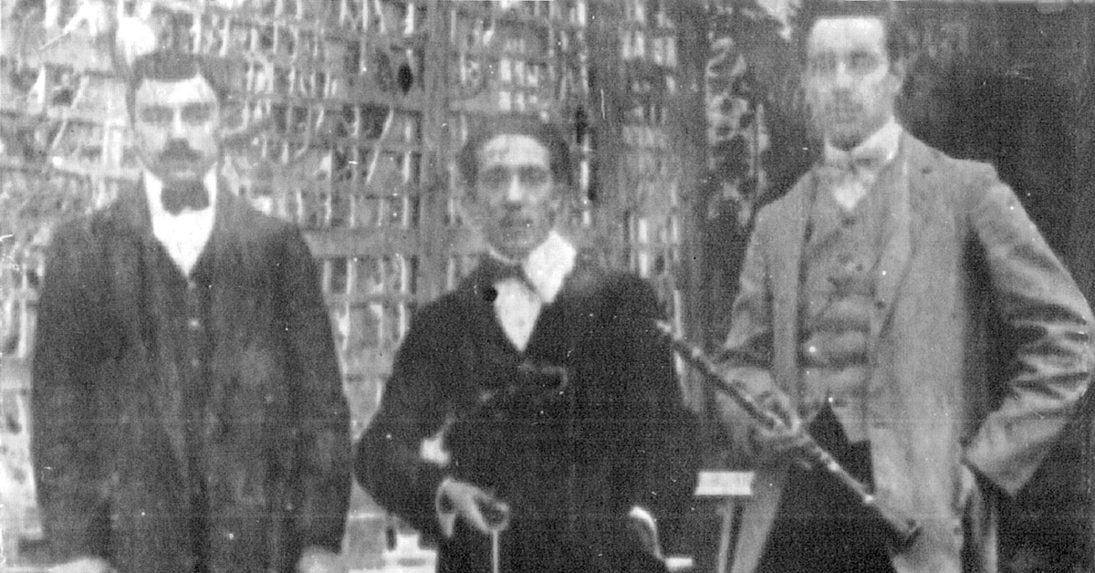 Roberto Firpo, Argentine Tango musician, leader and composer, with his musicians.