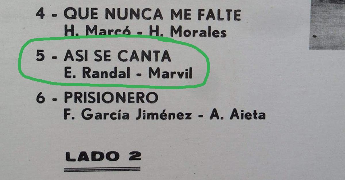 Tanturi-Campos Argentine Tango music disc back cover detail.