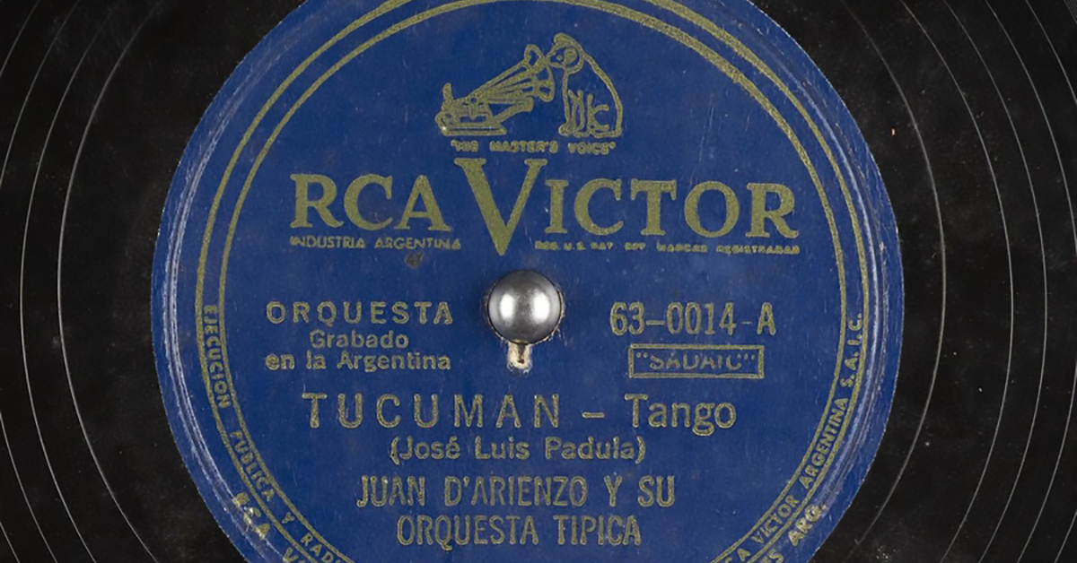 """Tucumán"" by Juan D'Arienzo, vinyl disc."