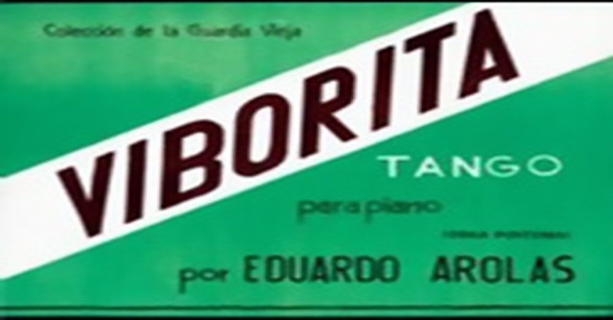 """Viborita"", Argentine Tango music sheet cover."