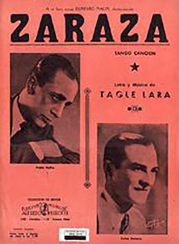 """Zaraza"", Argentine Tango music sheet cover."