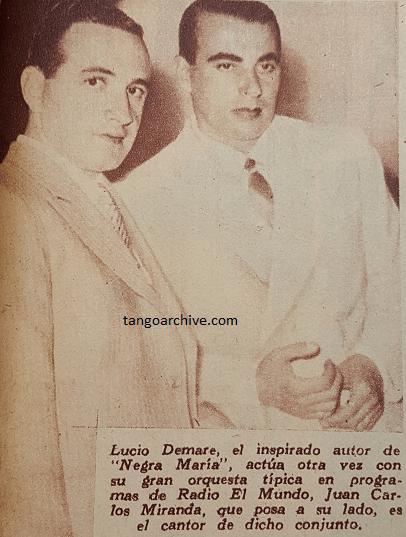 Juan Carlos Miranda & Lucio Demare.Argentine music at escuela de Tango de Buenos Aires.