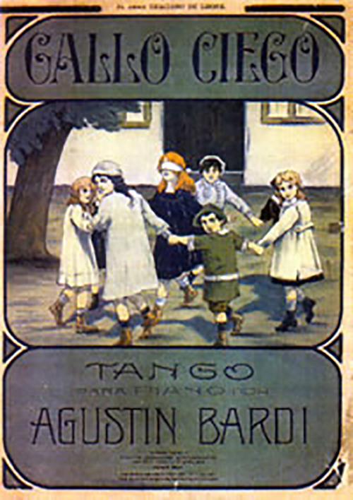 """Gallo ciego"", original cover of the music sheet. Agustín Bardi."