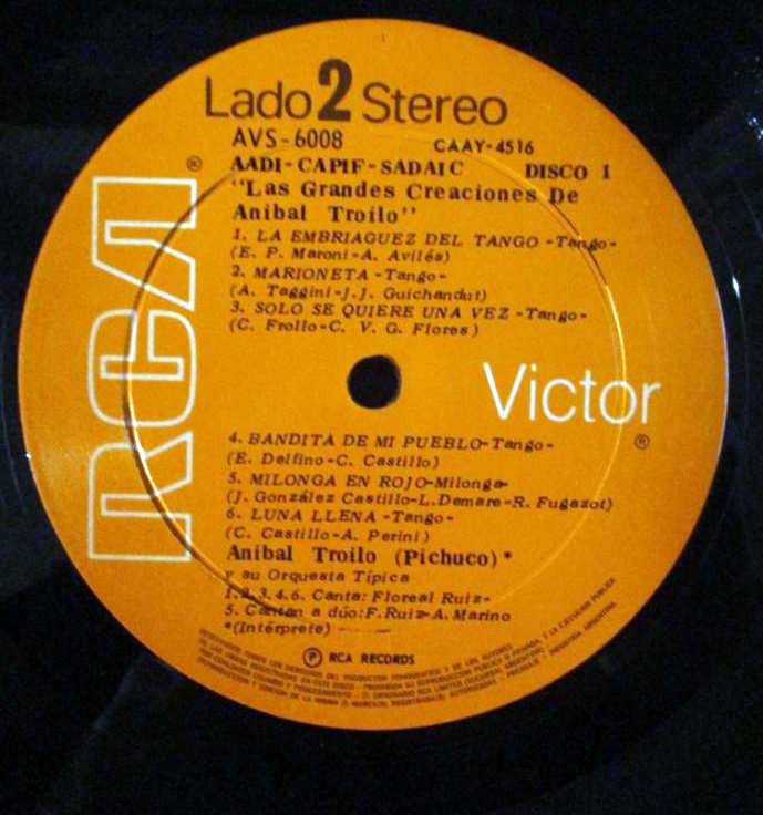 Argentine Tango music vinyl