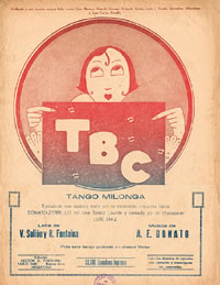 "Tango ""T.B.C."" music sheet cover."