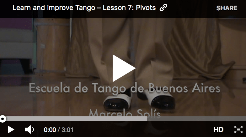 Argentine Tango video lessons