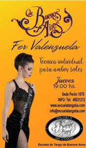 Fer Valenzuela. Technique for both leaders and followers. Escuela de Tango de Buenos Aires.
