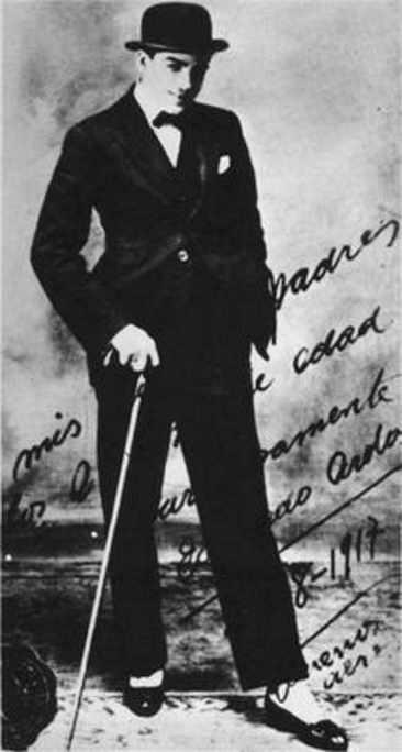 Eduardo Arolas, 1917. History of Tango by Marcelo Solis. Escuela de Tango de Buenos Aires.