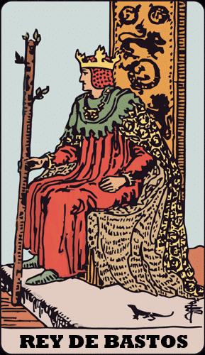 Carta de Tarot Rey de Bastos