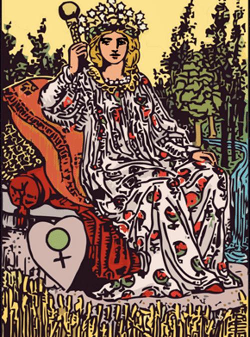 Carta de Tarot Emperatriz