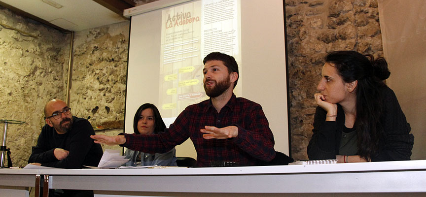 Un momento de la presentación el proyecto en el Palacio de Pedro I.