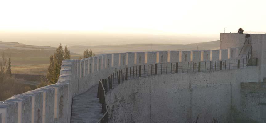 Adarve de la muralla de Cuéllar.