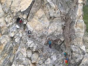 Traverso e galleria del Sentiero Attrezzo D' Ambros